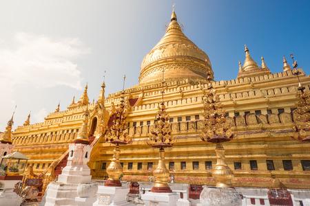 stu: Shwezigon Pagoda in Myanmar Stock Photo