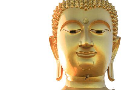buddha statue: Buddha portrait isolated on white Stock Photo