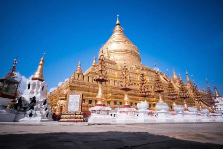 Shwezigon Pagoda in Myanmar Stock Photo