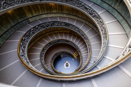 spiraling: Staircase of the Vatican Museum Editorial
