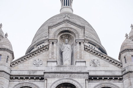 coeur: Basilica Sacre Coeur in White background