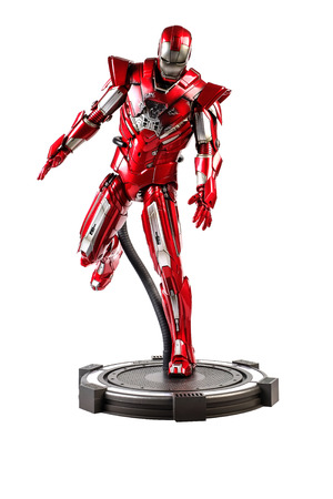 plastic soldier: Khonkaen,Thailand - June 13th 2015: Irons MARK XXXIII man figure 16 standing gracefully. Iron man is a popular line of construction toys manufactured by the Hottoy Group.