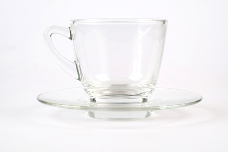 cup of water: Coffee cup water glass isolated on white Stock Photo