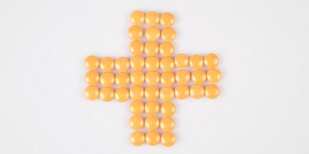 pillsdrug on white table Stock Photo