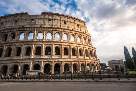known: ROME - MARCH 23, 2015: The Colosseum (Coliseum) also known as the Flavian Amphitheatre on a sunny spring day. Arena and hypogeum. One of the main attractions of the city. Rome, Italy.