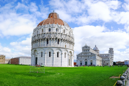 miracle square: View of the Pisa Cathedral in Pisa, Italy Stock Photo