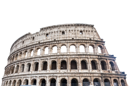 Colosseum in Rome, Italy isolated on white Standard-Bild