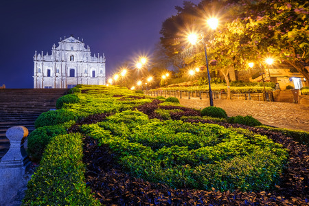 Ruins of St. Paul�s, one of Macau�s most famouse landmark and fabulous UNESCO World Heritage Site.