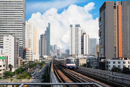 Sky Train at bangkok,thailand
