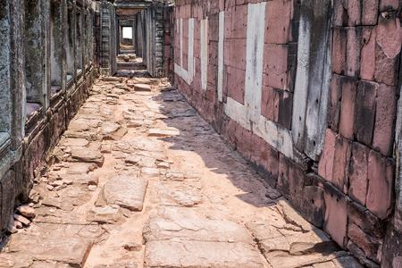 stone of destiny: Old brick walk way in sunlight