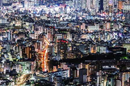 Japan cityscape night view