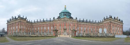Panoramic view of Sans Souci palace in Potsdam, Berlin, Germany, Europe.