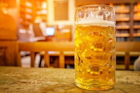 Large Beer in Hofbraeuhaus beer house, Munich, Bavaria, Germany