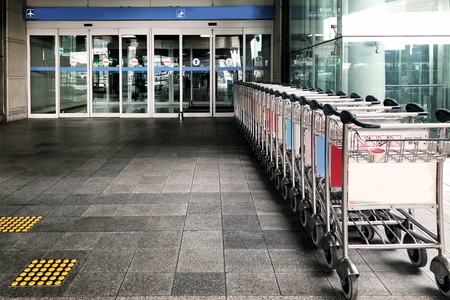 Trolley in front of The airport