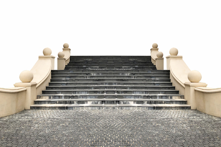 Stairs Roman style on white background Reklamní fotografie - 114522805