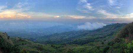 Panoramic view Phu Thap Boek sea of fog In Phetchabun, Thailand Reklamní fotografie - 114522685