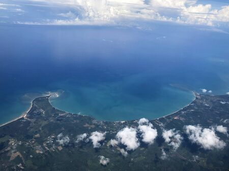 Aerial view beautiful scenic landscape of Phuket island in Andaman sea Thailand, Tourism destination place Asia