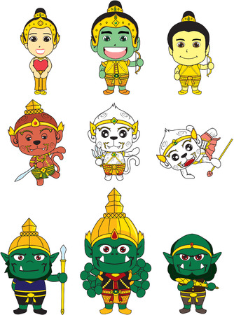 Ramakirti de bande dessinée Banque d'images - 29607264