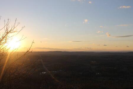 zonsopgang in de bergen natuur schoonheid