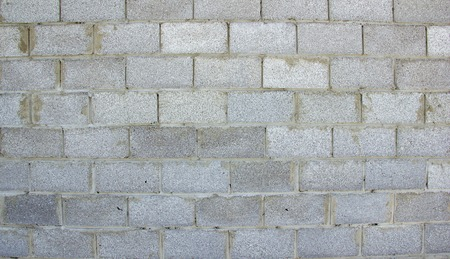 wall of gray blocks untreated just built
