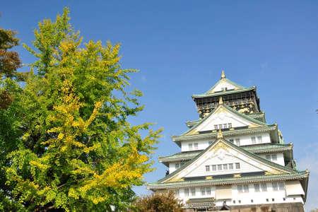 The castle in the autumn season