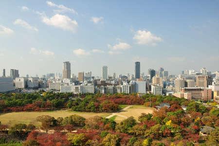 Osaka bird eye views photo