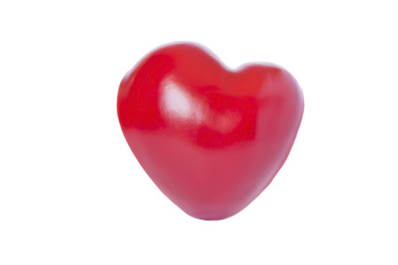 the heart of paprika isolated on white  photo