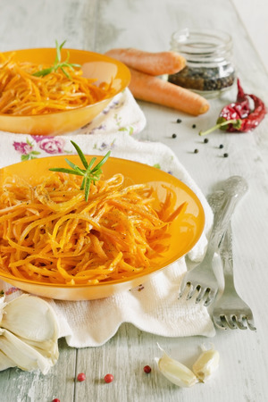 vitamin salad of carrots. dietary dinner. health and diet food. selective focus photo