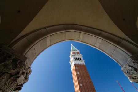 the campanile: San Marco Campanile seen from San Marco Basilica, Venice-Italy.