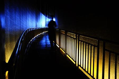 fear: Tsunami hallway or space of fear Stock Photo