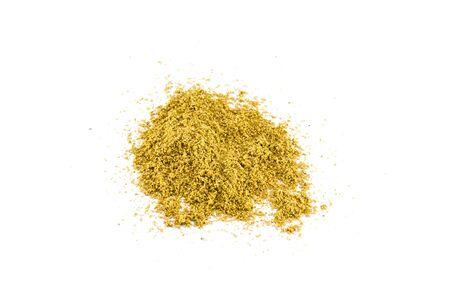 Coriander powder isolated on white background Stock Photo