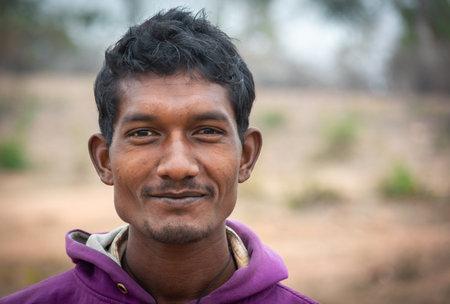 TIKAMGARH, MADHYA PRADESH, INDIA - JANUARY 23, 2021: Close up portrait of a indian man. Éditoriale
