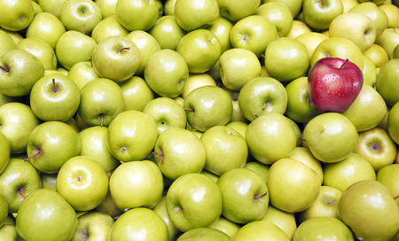 differentiation: Apples background Stock Photo