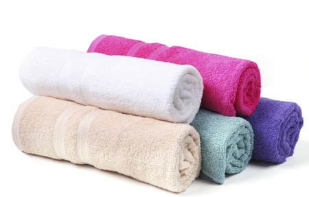 household tasks: towel, bath towel on the background.