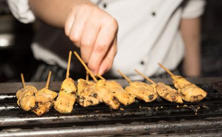 grill: kebab grill Stock Photo