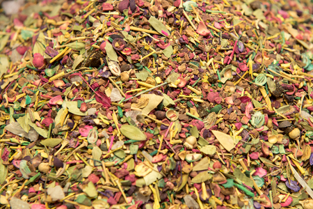 macr: background of herb and spice mixture