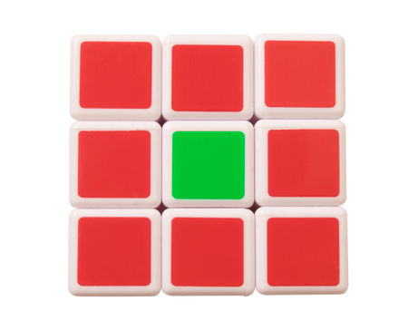 invented: Dubai, UAE- May 16, 2016: Rubiks cube on a white background. Rubiks Cube invented by a Hungarian architect Erno Rubik in 1974. Editorial