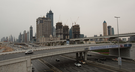 longest: DUBAI, UAE - 1 APRIL, 2016: Dubai Metro as worlds longest fully automated metro network (75 km). April 1, 2016 Dubai, UAE.