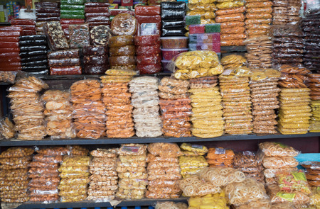 muruku: CALICUT INDIA - JULY 27 : snack stall in CALICUT. Calicut place is big shopping center in kerala on july, 27, 2015, india