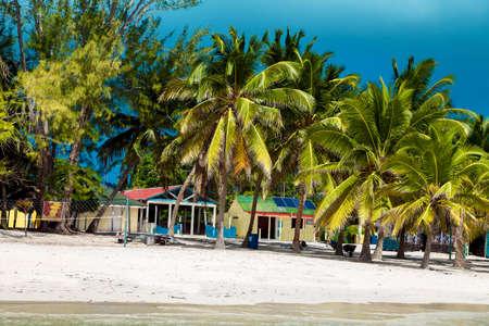 Dominican Republic, Saona Island - Mano Juan Beach. Fishermen's village. Luxury travel. Vacation. Cruise. Paradise. Amazing Caribbean landscape. Foto de archivo