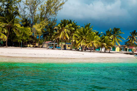 Dominican Republic, Saona Island - Mano Juan Beach. Fishermen's village. Luxury travel. Vacation. Cruise. Paradise. Amazing Caribbean landscape.