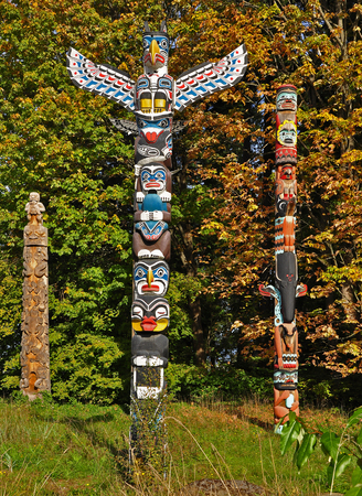 first nations: Totem Stock Photo
