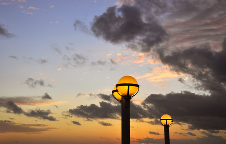 Sunset on cruise Stok Fotoğraf