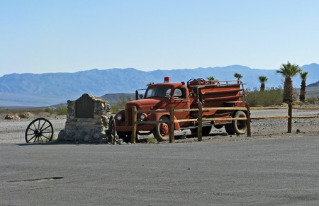 joshua: Old Fire truck in death valley
