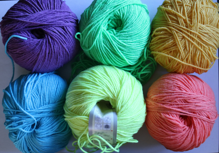 Ball of yarn in different color