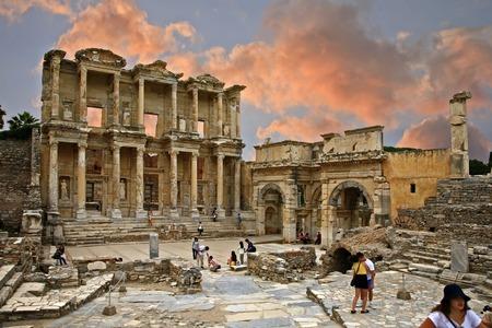 Celsus library in Ephesus Editorial