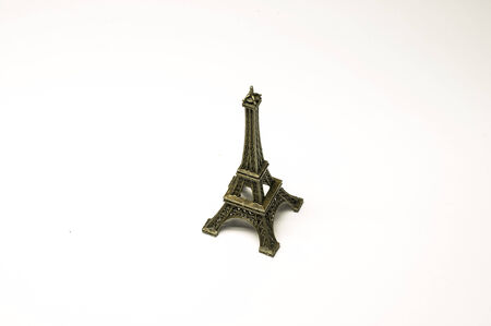 Eiffel tower isolated on white background, clipping path included photo