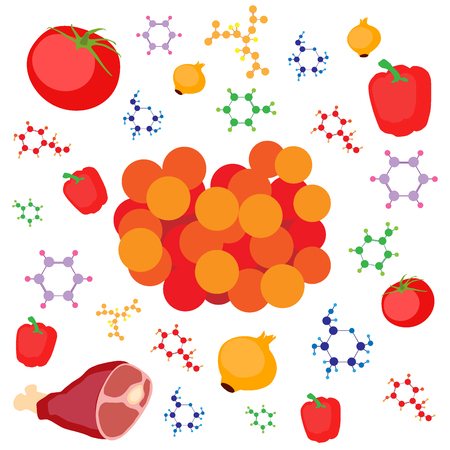 Molecular gastronomy concept illustration.