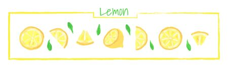 Collection of different slice of lemon