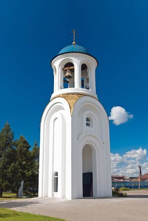 dormitory: bell-tower of the dormitory church, st.petersburg, russia